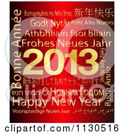 Clipart Of A Gold And Red Happy New Year 2013 Word Collage Royalty Free CGI Illustration by MacX