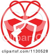 Cartoon Of A Round Red Christmas Gift Avatar Royalty Free Vector Clipart