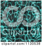 Clipart Of A Seamless Turquoise Alien Electrical Storm Texture Background Pattern 2 Royalty Free CGI Illustration