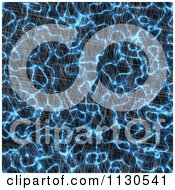 Clipart Of A Seamless Blue Alien Electrical Storm Texture Background Pattern 15 Royalty Free CGI Illustration