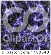 Clipart Of A Seamless Purple Alien Electrical Storm Texture Background Pattern 7 Royalty Free CGI Illustration