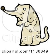 Cartoon Of A Begging Dog 1 Royalty Free Vector Clipart