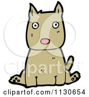 Cartoon Of A Sitting Dog 1 Royalty Free Vector Clipart