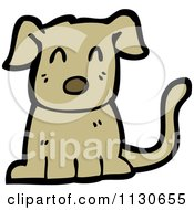Cartoon Of A Sitting Dog 2 Royalty Free Vector Clipart