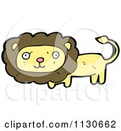 Cartoon Of A Wild Lion 1 Royalty Free Vector Clipart