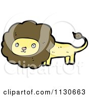 Cartoon Of A Wild Lion 2 Royalty Free Vector Clipart by lineartestpilot