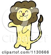 Cartoon Of A Standing Lion 3 Royalty Free Vector Clipart by lineartestpilot