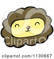 Cartoon Of A Lion Face 1 Royalty Free Vector Clipart by lineartestpilot