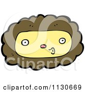Cartoon Of A Lion Face 3 Royalty Free Vector Clipart by lineartestpilot