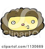 Cartoon Of A Lion Face 3 Royalty Free Vector Clipart