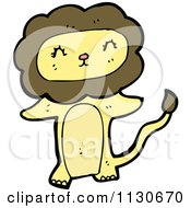 Cartoon Of A Standing Lion 2 Royalty Free Vector Clipart by lineartestpilot