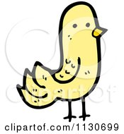 Cartoon Of A Yellow Pigeon 2 Royalty Free Vector Clipart