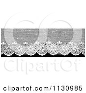 Clipart Of A Retro Vintage Black And White Lace Border Royalty Free Vector Illustration