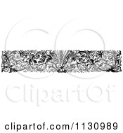 Clipart Of A Retro Vintage Black And White Floral Dog Border Royalty Free Vector Illustration