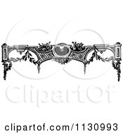 Clipart Of A Retro Vintage Black And White Architecture Border Royalty Free Vector Illustration