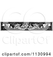 Clipart Of A Retro Vintage Black And White Floral Border 2 Royalty Free Vector Illustration