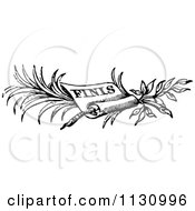 Clipart Of A Retro Vintage Black And White Finish Scroll Border Royalty Free Vector Illustration