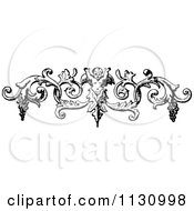 Clipart Of A Retro Vintage Black And White Cherub And Grapes Swirl Border Royalty Free Vector Illustration by Prawny Vintage