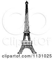 Clipart Of A Retro Vintage Black And White Eiffel Tower Royalty Free Vector Illustration by Prawny Vintage