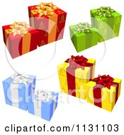 Clipart Of 3d Gift Wrapped Presents 1 Royalty Free Vector Illustration by dero
