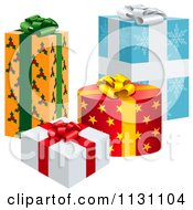 Clipart Of 3d Gift Wrapped Presents 2 Royalty Free Vector Illustration by dero