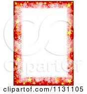Red Christmas Border With Sparkles Stars And Snowflakes