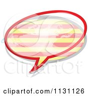 Clipart Of A Catalonia Flag Chat Balloon Royalty Free Vector Illustration
