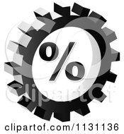 Clipart Of A Grayscale Percent Gear Cog Icon Royalty Free Vector Illustration by Andrei Marincas