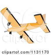Clipart Of A Retro Cessna Airplane Royalty Free Vector Illustration