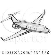 Retro Commercial Airliner Plane