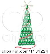 Christmas Tree Of Beer Bottles
