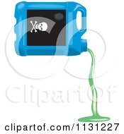 Clipart Of A Bottle Of Pouring Antifreeze Royalty Free Vector Illustration