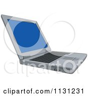 Clipart Of An Open Laptop Computer Royalty Free Vector Illustration by patrimonio