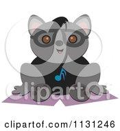 Raccoon Wearing A Music Note Shirt