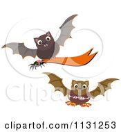 Halloween Vampire Bats And A Banner