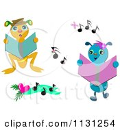 Singing Bugs With Music Notes