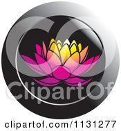 Clipart Of A Lotus Icon Royalty Free Vector Illustration by Lal Perera