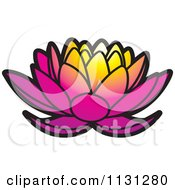 Clipart Of A Gradient Lotus Flower Royalty Free Vector Illustration