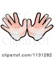 Clipart Of Hands Royalty Free Vector Illustration