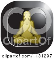 Clipart Of A Yoga Woman Meditating Icon 3 Royalty Free Vector Illustration