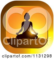 Clipart Of A Sunset Meditation Yoga Icon Royalty Free Vector Illustration