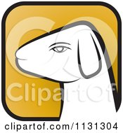 Clipart Of A Ram Goat Head Icon 1 Royalty Free Vector Illustration by Lal Perera