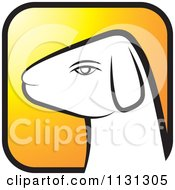 Clipart Of A Ram Goat Head Icon 2 Royalty Free Vector Illustration by Lal Perera
