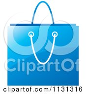 Clipart Of A Blue Shopping Bag Royalty Free Vector Illustration