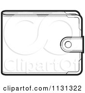 Clipart Of An Outlined Wallet Royalty Free Vector Illustration by Lal Perera