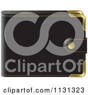 Clipart Of A Black Wallet Royalty Free Vector Illustration by Lal Perera