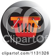 Clipart Of A Red Shopping Basket Icon Royalty Free Vector Illustration