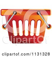 Clipart Of A Red Shopping Basket Royalty Free Vector Illustration