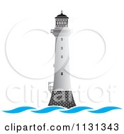 White Lighthouse And Waves