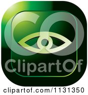 Clipart Of A Green Eye Icon Royalty Free Vector Illustration by Lal Perera